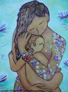 Motherhood flowers all over, Gioaia Albano