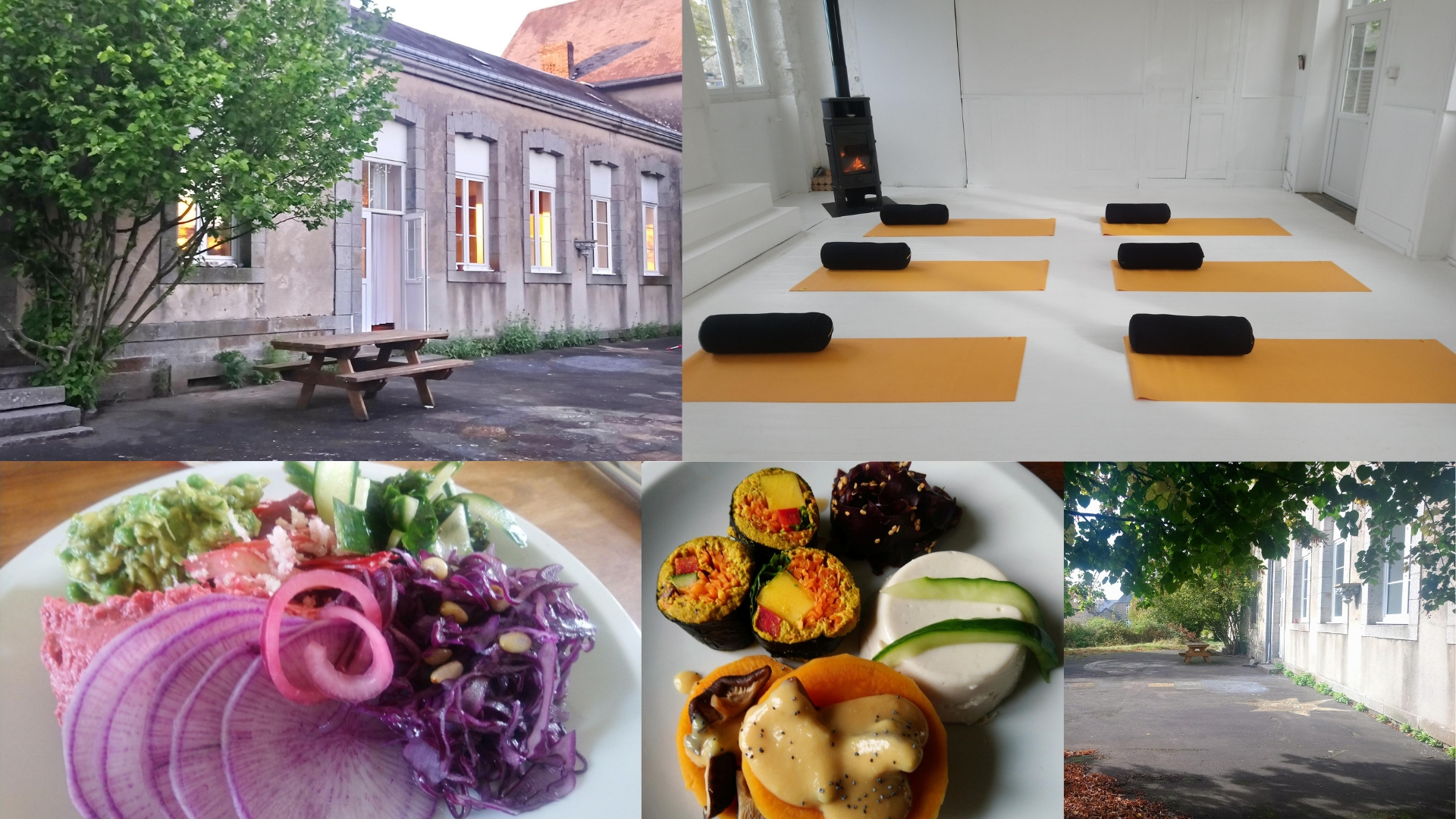 Weekend Yoga Normandie Meditation yoga Restauratif Location & Food Veggie