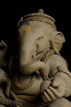 Ganesh Chaturthi clay celebration puja immersion flowing water