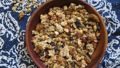 Granola maison noix graines fruits secs petit dej brunch goûter DIY homemade